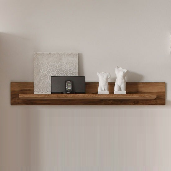 montreal wall mounted display shelf in walnut satin 24105. Black Bedroom Furniture Sets. Home Design Ideas