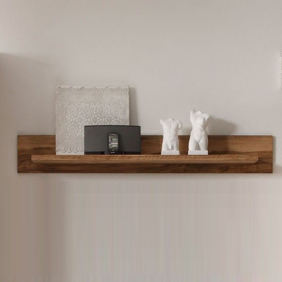 Montreal Wall Mounted Display Shelf In Walnut Satin 24105