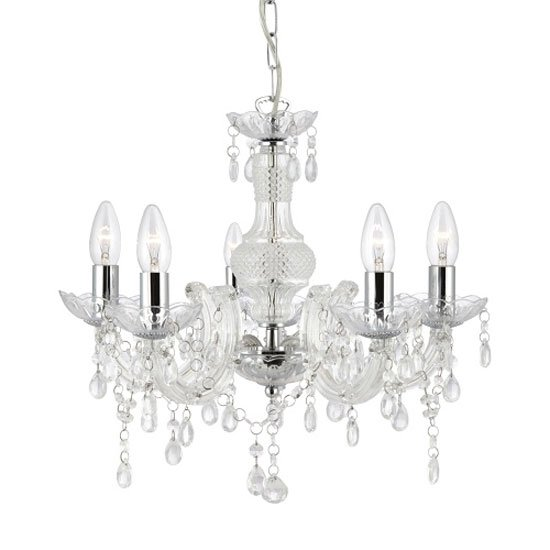 Marie Therese Chrome Ceiling Light