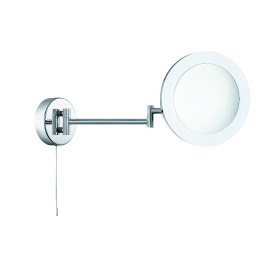 Panton Adjustable Bathroom Mirror In Chrome With LED