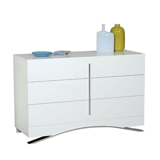 Caly Chest Of Drawers In White High Gloss
