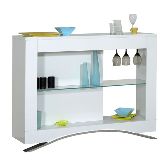Smooth High Gloss White Lcd Tv Stand With Led Light 22487 Fu