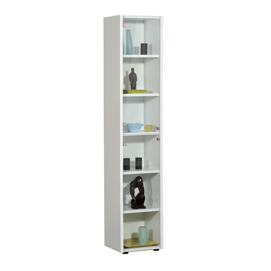 Smooth White Display Stand With 2 Glass Doors