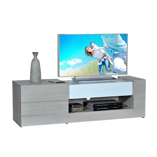 Sesa LCD TV Stand In Wood And High Gloss