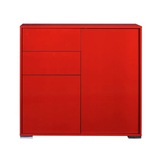 Novi Shiny Red Finish 2 Door Sideboard With 2 Drawers