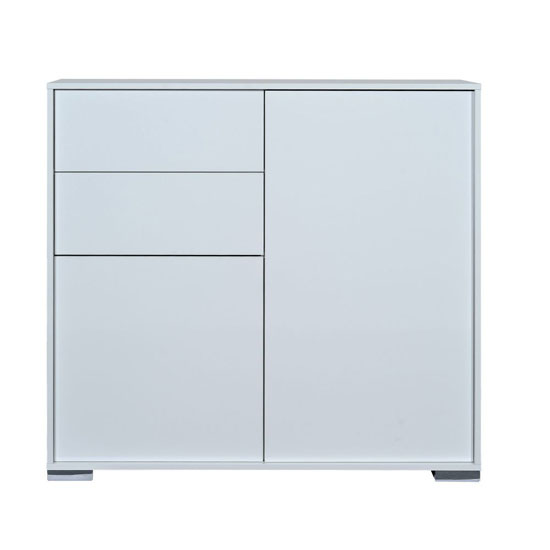 Novi Shiny White Finish 2 Door Sideboard With 2 Drawers
