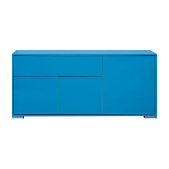 Novi Blue Finish 3 Door Sideboard With 1 Drawer