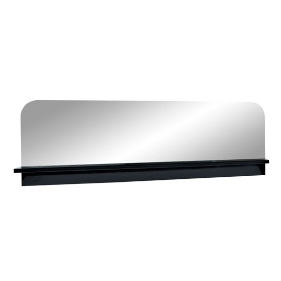 Fiesta Black High Gloss Wall Mirror With Shelf