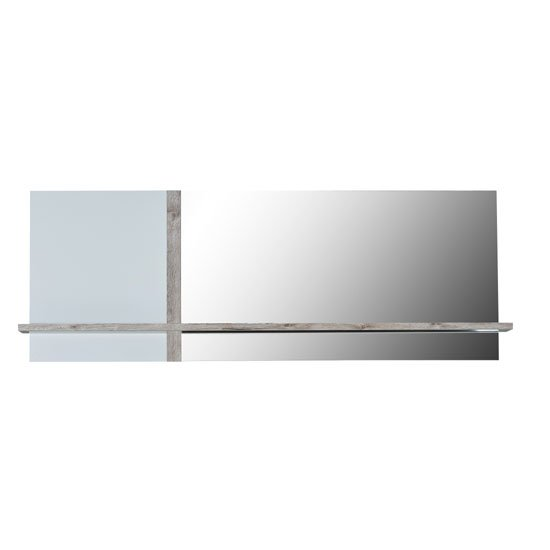 Crossana Wall Mirror In Paper Sherwood With 1 Shelf