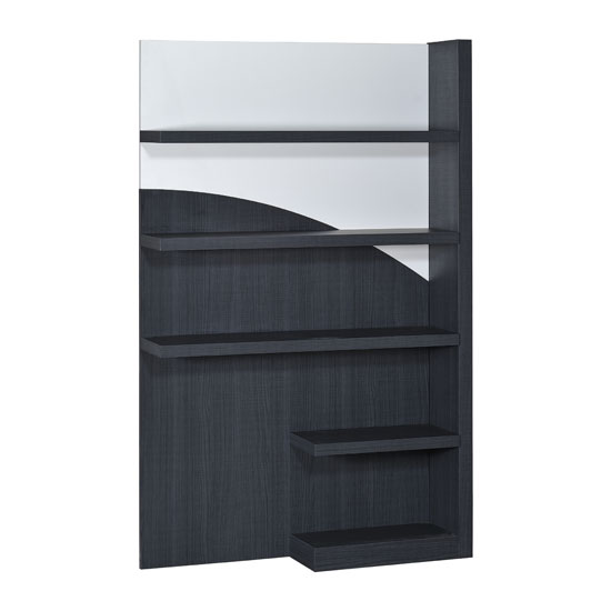Eclypse Bookcase In Dark Grey With White Gloss And 5 Shelf