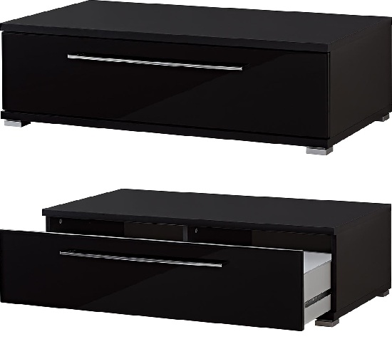 Cool Plasma TV Stand In High Gloss Black With 1 Drawer
