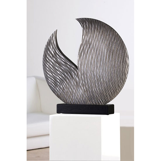 Read more about Parrot sculpture in silver handmade with black base