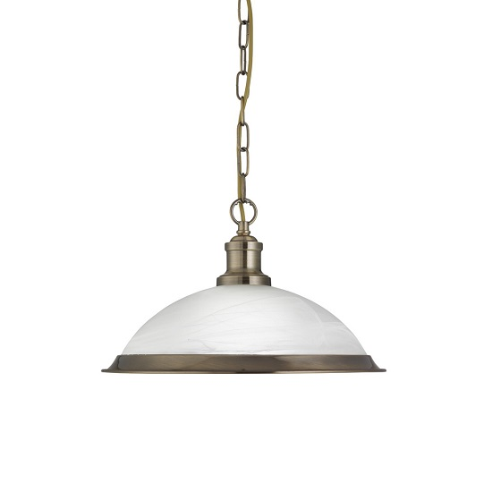 Bistro Acid Glass Shade Pendant Lamp With Antique Brass Finish_1