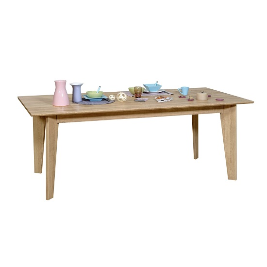 Peora Extendable Dining Table Rectangular In Oak