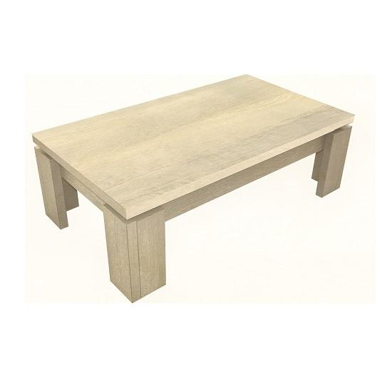 Sonora Wooden Coffee Table Rectangular In Oak