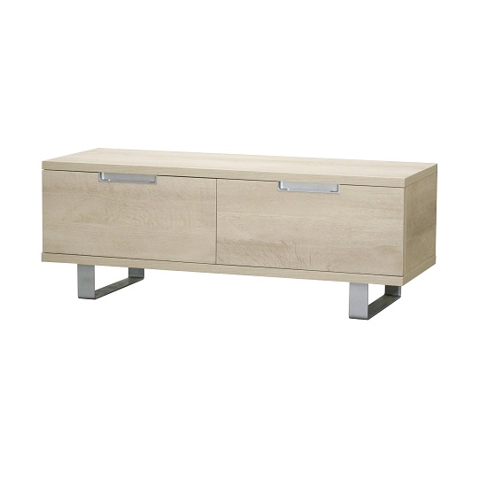 Sonora TV Cabinet In Oak With Metal Legs And 2 Drawers