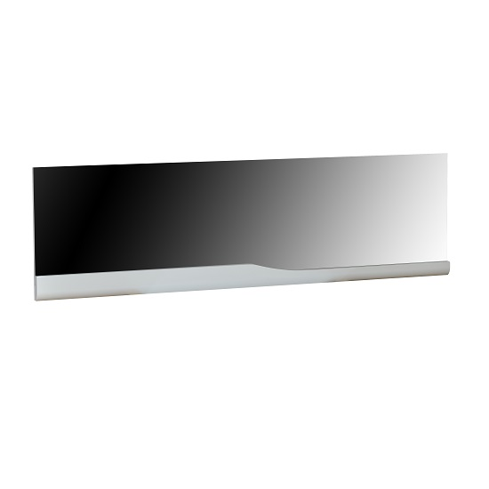 Merida Wall Mirror Rectangular In White Lacquer