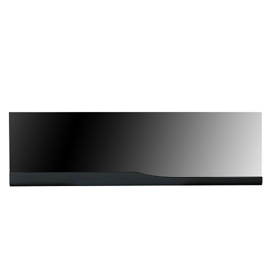 Merida Wall Mirror Rectangular In Black High Gloss