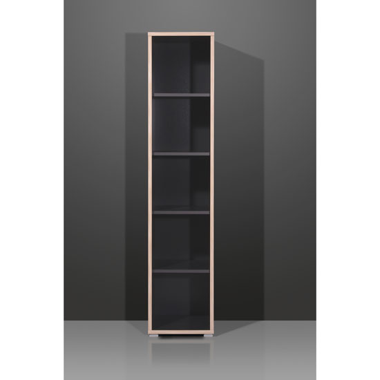 Duo Anthracite Narrow 5 Tier Shelving Unit