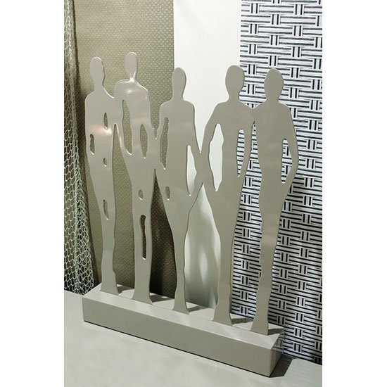 Read more about Friends sculpture in mdf grey high polished