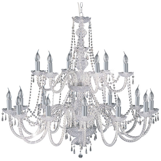 Hale Georgian Style Chrome Crystal Chandelier Ceiling Light