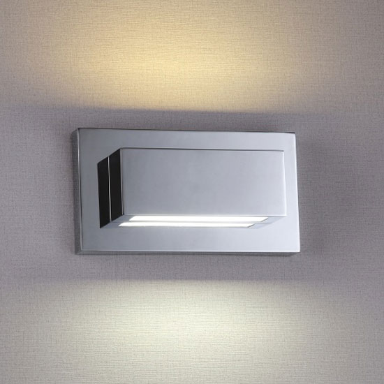 LED Chrome Finish With Polycarbonate Lens Wall Light