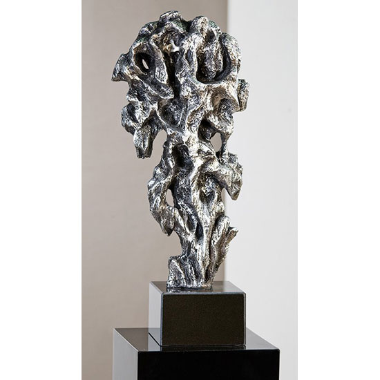 Read more about Fantastic sculpture in silver with black base