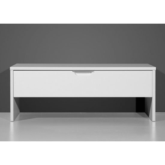Hemnes Shoe Storage Bench In White With High Gloss Fronts 23