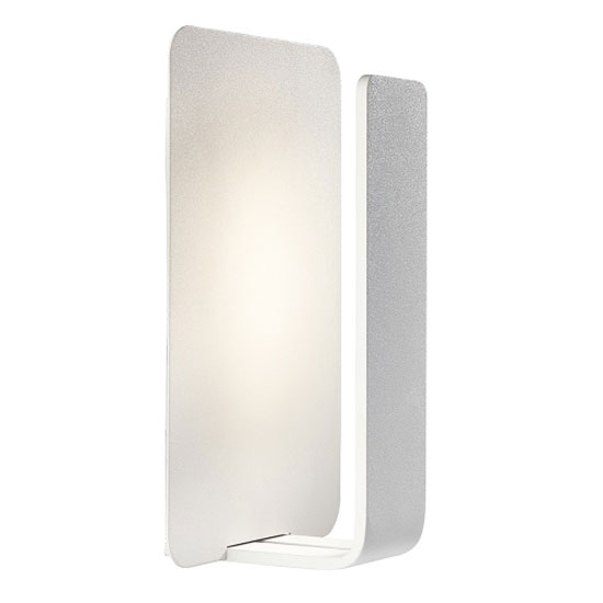 Read more about Led wall light finished in white with polycarbonate lens