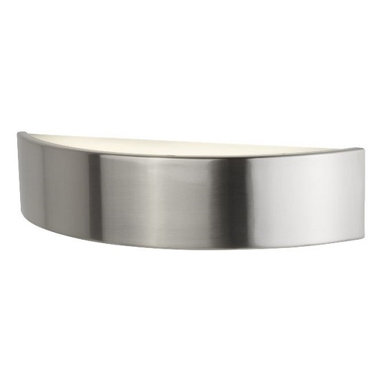 Half Moon Frosted Glass Led Wall Bracket In Satin Silver_1