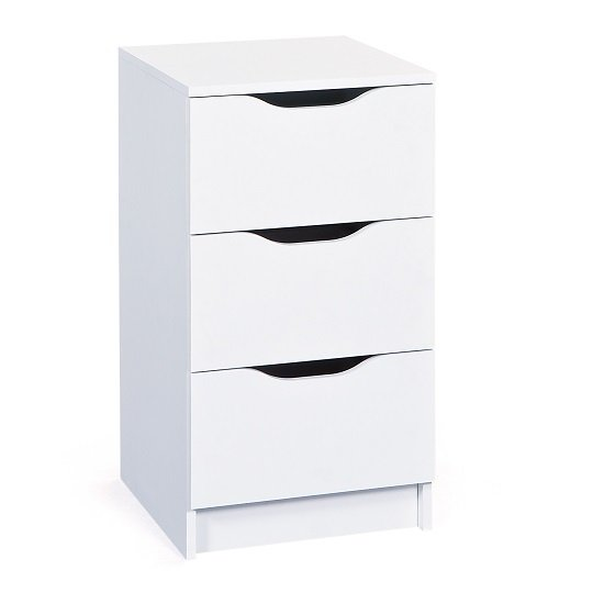 Crick Small Chest of Drawers In White With 3 Drawers_1