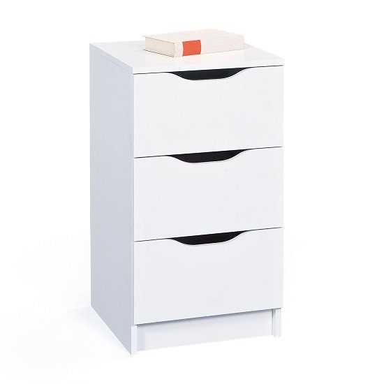 Crick Small Chest of Drawers In White With 3 Drawers_2