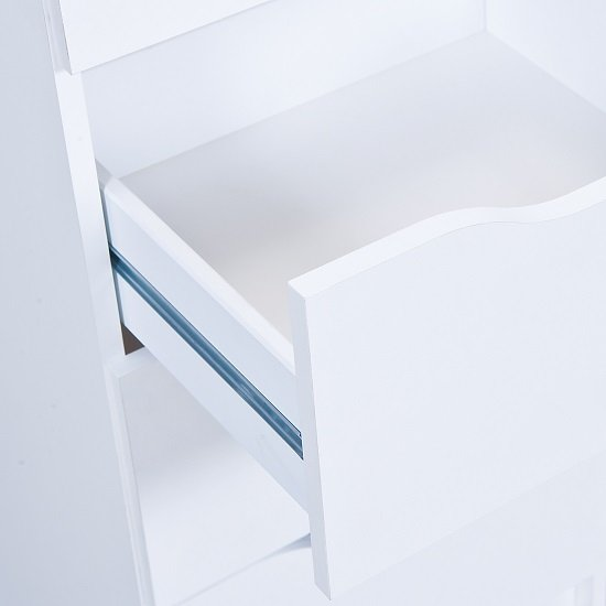 Crick Wide Chest of Drawers In White With 6 Drawers_5