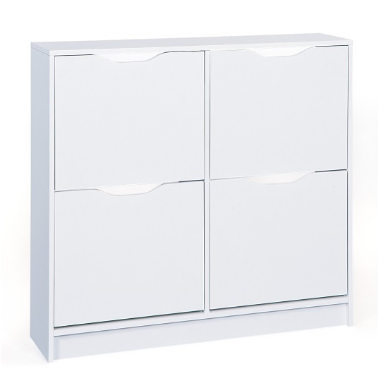 Crick Shoe Storage Cabinet In White With 4 Doors_1