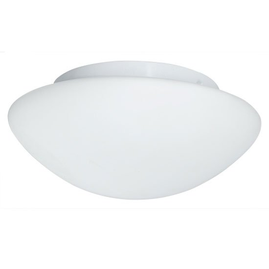 Opal White Glass Flush Fitting Bathroom Ceiling Light