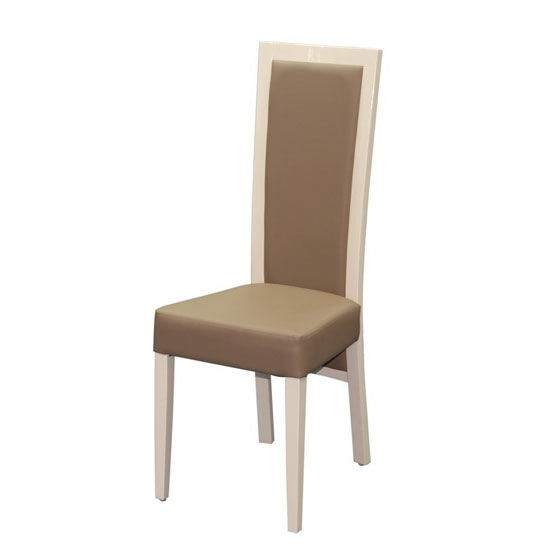 dining room furniture dining chairs kati cream high gloss wooden