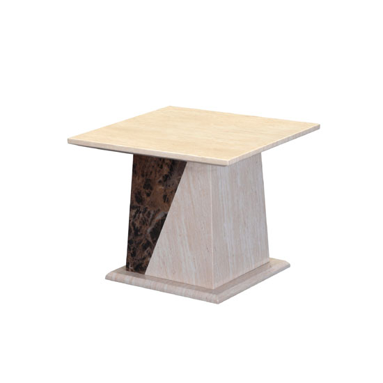 Marble Effect Coffee Table Uk: Kati Marble Effect End Table In Cream 21930 Furniture In