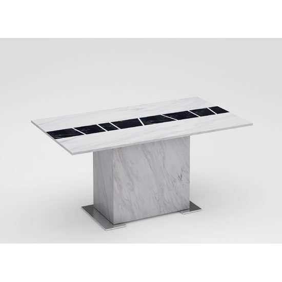 Sonati Marble Effect Rectangular Dining Table Only