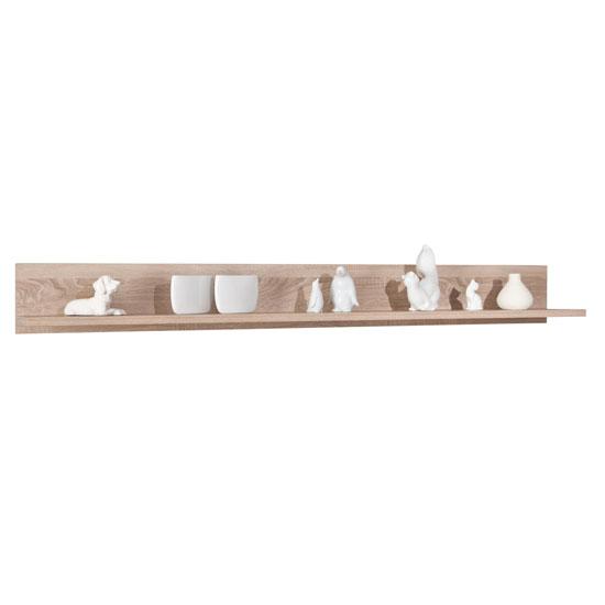 Utopia Wooden Wall Mounted Display Shelf In Sonoma Oak