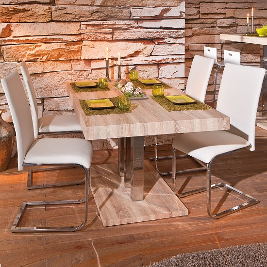 Palzo Dining Table In Sanoma Oak
