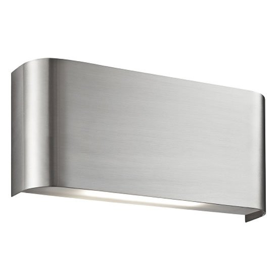 LED Satin Silver Finish With Polycarbonate Lens Wall Light