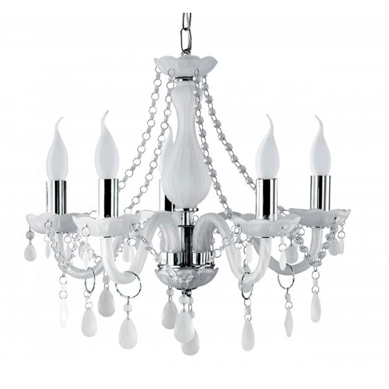 Marie Therese Multi Arm Chrome Finish Chandelier Ceiling Light