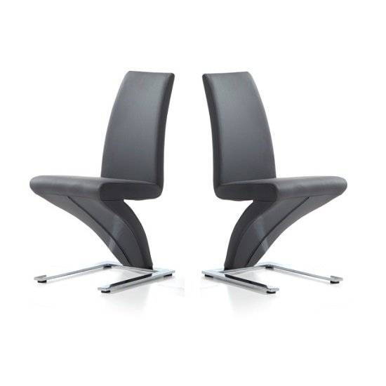 2%20x%20Grey%20Z%20Chairs - What Colour Dining Chairs Should I Choose For My Clear Glass Dining Table? 5 Сreative Suggestions