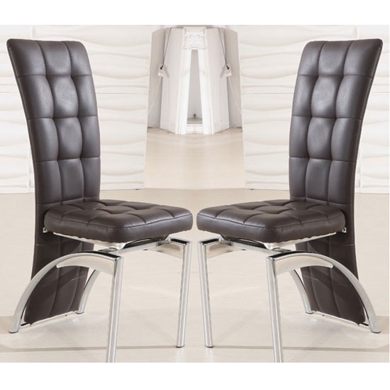 buy 2 ravenna brown faux leather dining room chairs for 150