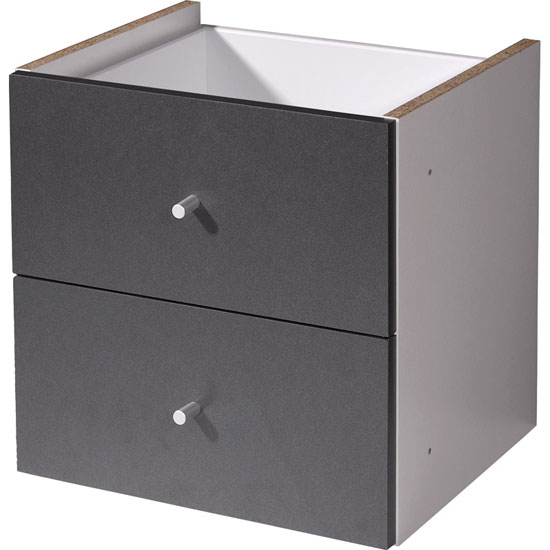 Read more about Linea anthracite cabinet front with 2 drawers