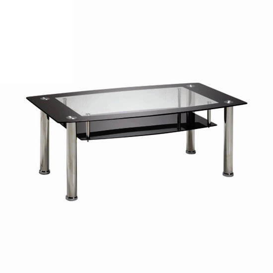 Rio Black Glass Coffee Table With White Gloss Legs Buy Glass Coffee Table Furniture In Fashion