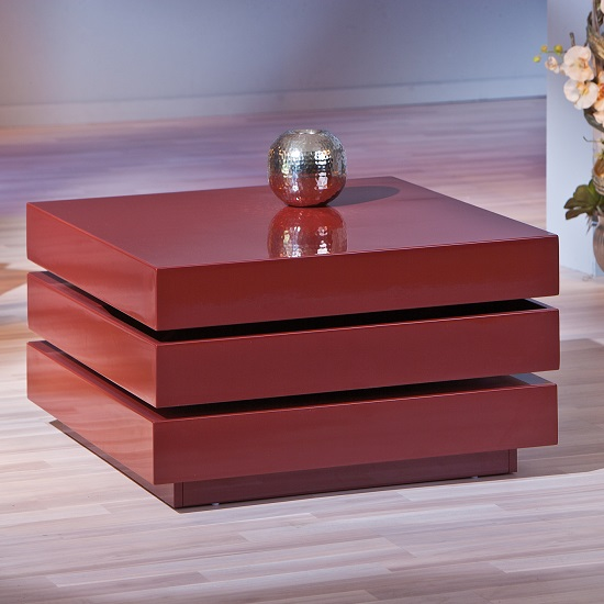20800926 Trilogie Coffee Table Interlink - Triomo Storage Coffee Table With Rotation In Marsala
