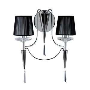 Read more about Duchess stylish chrome and black chrome wall light