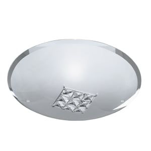 Quadrex Round Flush Light With Square Crystal Windows