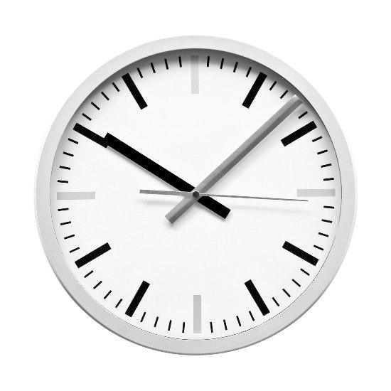 value range plastic wall clock